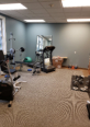 The mens workout room
