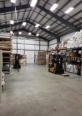 The warehouse with radiant heat