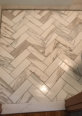 21859 - Imperial - Calacatta - Honed - 4x12 Herringbone